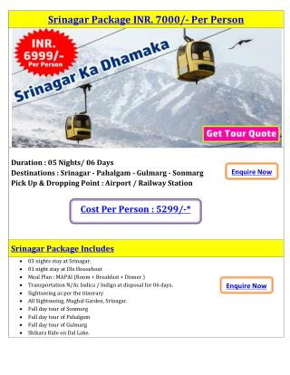 Srinagar Package