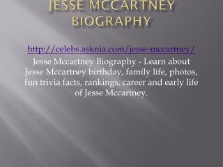 Jesse Mccartney Biography | Biography Of Jesse Mccartney