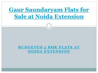 Gaur Saundaryam Flats for Sale at Noida Extension