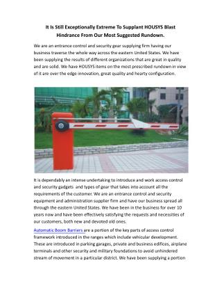 Automatic Boom Barrier Gates with New Technology
