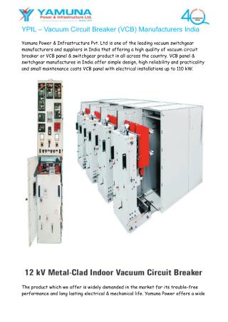 YPIL – Vacuum Circuit Breaker (VCB) Manufacturers India