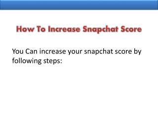 Buy Snapchat Score at Cheap Price