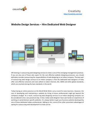 Website Design Services – Hire Dedicated Web Designer