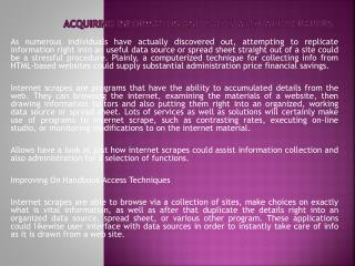 Acquiring Information and facts With Web Scrapers