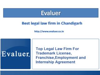 Evaluer legal firms in chandigarh