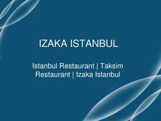 Taksim best restaurants