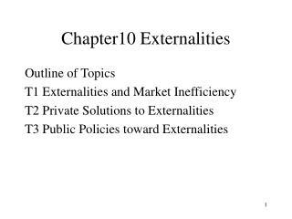Chapter10 Externalities