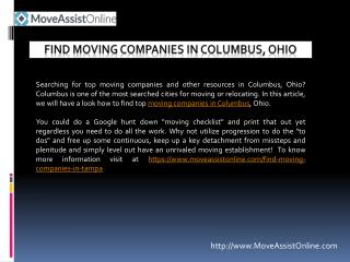 Are Your Searching for Moving Companies in Columbus?
