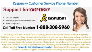 Online Support For Kaspersky Antivirus 1-888-308-5960, technical support
