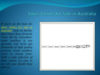 Silver Chains for Sale in Australia