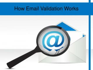 How Email Validation Works
