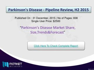 Factors influencing for the development of Parkinson's Disease Market 2015