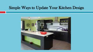 Simple Ways to Update Your Kitchen Design
