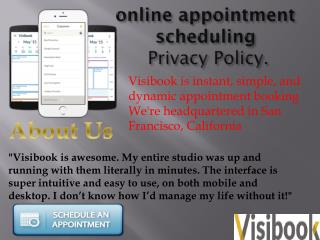 online appointment scheduling Privacy Policy.