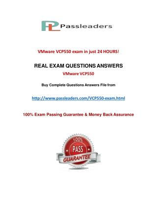 Passleader VCP550 Questions Answers