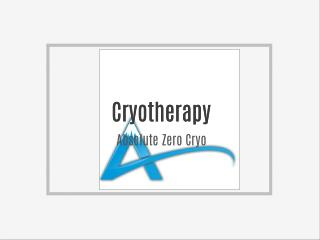 Whole Body Cryotherapy - Absolute Zero Cryo