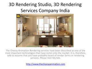 3D Rendering Studio, 3D Rendering Services Company India