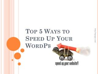 Easy Solution To Speed Up Your WordPress Site