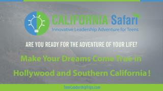 Make Your Dreams Come True in Hollywood & Silicon Valley | Summer Program For College Students