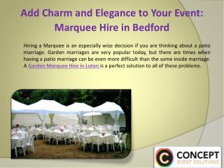 Add Charm and Elegance to your Event: Marquee Hire in Bedford
