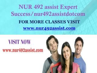 NUR 492 assist Expect Success/nur492assistdotcom