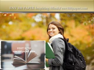 ENV 100 PAPER Inspiring Minds/env100paper.com