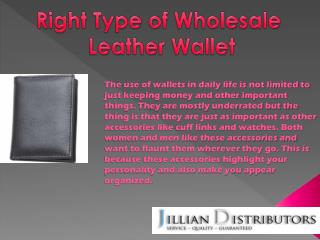 Right Type Of Wholesale Leather Wallet
