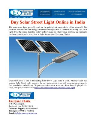 Buy Solar Street Light Online in India