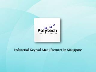 Industrial Keypad Suppliers Singapore