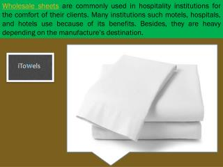 Wholesale Bed Sheets iTowels