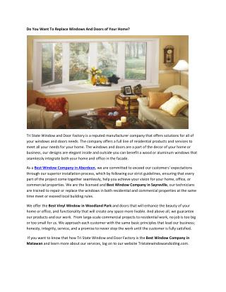 Energy Efficient Windows Nj
