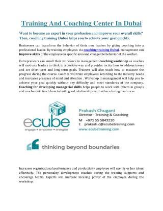 Ecube Corporate training Testmonials