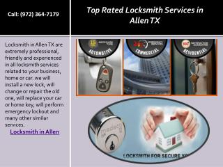Top Rated Locksmith Services in Allen TX