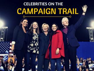 Celebrities on the campaign trail
