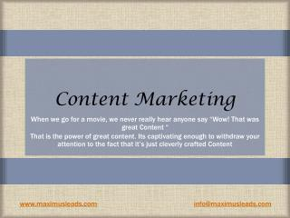 Content marketing - Maximus Leads