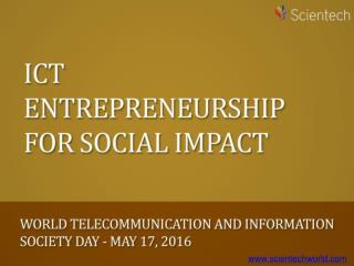 ICT Entrepreneurship for Social Impact