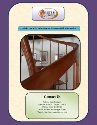 A brief view of the online staircase designs available in the market