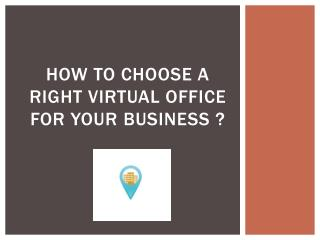 How to choose A right virtual office for your business ?