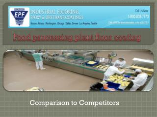 Food processing plant floor coating