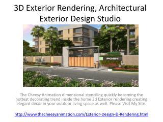 3D Exterior Rendering, Architectural Exterior Design Studio