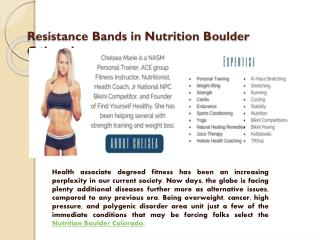 Resistance bands Nutrition in Boulder Colorado