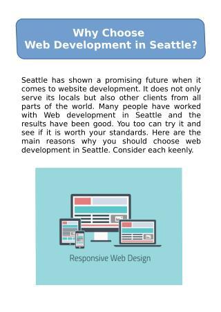 Why Choose Web Development in Seattle?