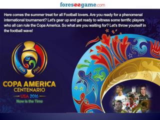 Some Interesting Facts about Copa America Centenario