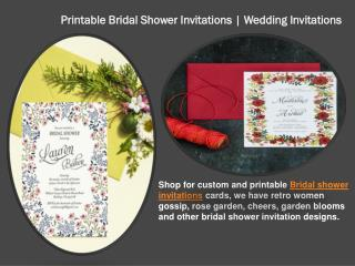 Printable Bridal Shower Invitations | Wedding Invitations