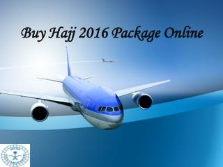 Buy Hajj 2016 Package Online