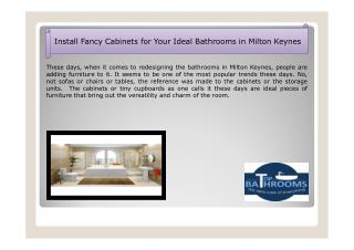 Install Fancy Cabinets for Your Ideal Bathrooms in Milton Keynes