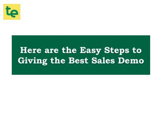 Follow These 8 Steps To Give Successful Sales Demo