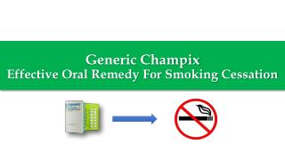 Generic Champix for Smoking Cessation