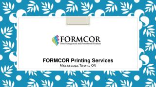 Formcor - Printing Services in Mississauga, Toronto,ON