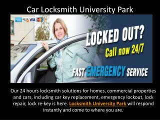 Car Locksmith University Park